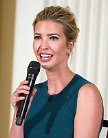 Ivanka Trump speaks following United States President Donald J. Trump's remarks at an event with small businesses in the East Room of the White House in Washington, DC on Tuesday, August 1, 2017. Photo Credit: Ron Sachs/CNP/AdMedia