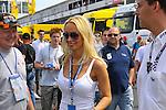 DTM Nuerburgring, 7.Lauf 2008<br /> Cora Schumacher auf dem Weg zur Mercedeslounge <br /> Foto © nph (nordphoto)