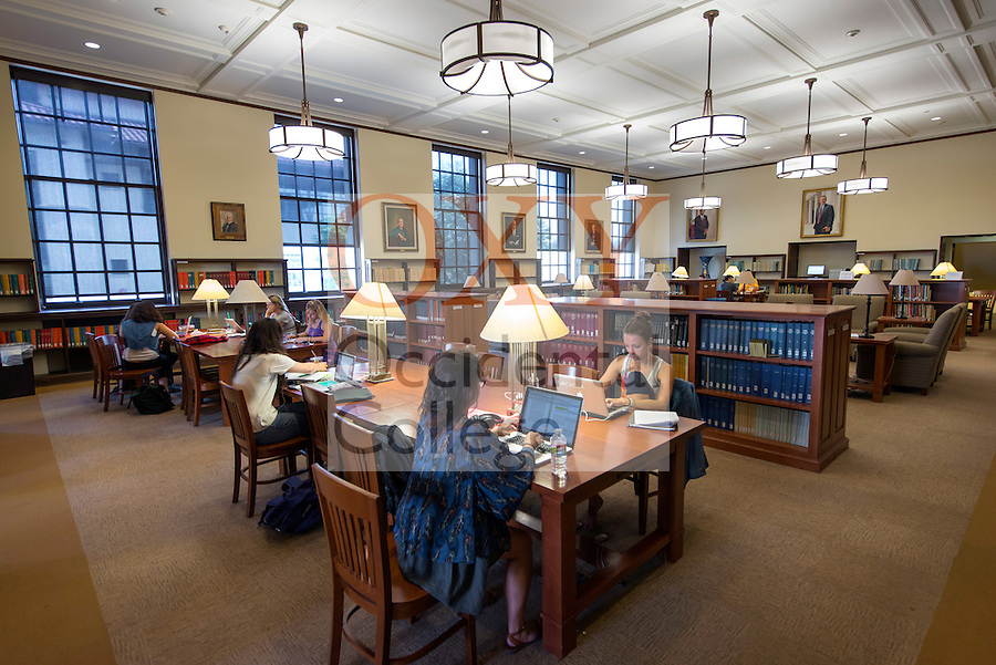 Occidental College students study in the Mary Norton Clapp Library and Academic Commons on the Los Angeles, California campus. (Photo by Marc Campos, Occidental College Photographer)<br />