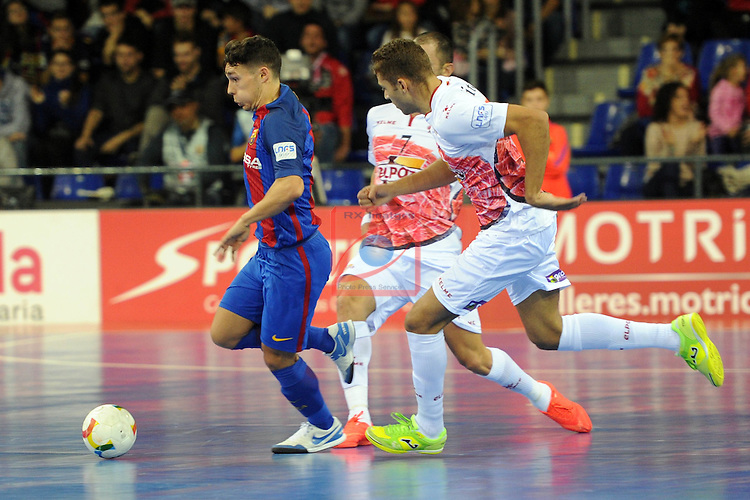League LNFS 2016/2017 - Game 8.<br /> FC Barcelona Lassa vs ElPozo Murcia: 2-3.<br /> Roger Serrano vs Cardinal.