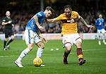 Motherwell v St Johnstone&hellip;20.10.18&hellip;   Fir Park    SPFL<br />Matty Kennedy is closed down by Peter Hartley<br />Picture by Graeme Hart. <br />Copyright Perthshire Picture Agency<br />Tel: 01738 623350  Mobile: 07990 594431
