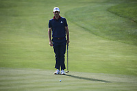 Justin Rose (Team Europe) putting on the 7th during Friday's Foursomes, at the Ryder Cup, Le Golf National, Île-de-France, France. 28/09/2018.<br /> Picture David Lloyd / Golffile.ie<br /> <br /> All photo usage must carry mandatory copyright credit (© Golffile | David Lloyd)
