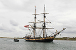 The Arrival of the ships for the Irish Maratime Festival 2018 in Drogheda port.<br /> Picture Fran Caffrey | Newsfile