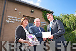 Dr. Veronica Kennelly, Lecturer IT Tralee, Gerry Dwyer, Milk and Operations Manager, Lee Strand Co-Op, Dr. Joseph Walsh, Head of the School of Science, Technology, Engineering and Maths, IT Tralee, Launch the New Scholarship Initiative by Lee Strand to support a Bachelor of Science in Food Science and Innovation