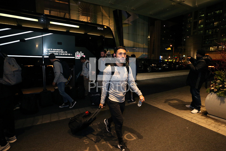 Toronto, Ontario - Wednesday December 06, 2017: Seattle Sounders FC held a media session after arriving at their team hotel, Delta Hotels Toronto, three days before playing in MLS Cup 2017.
