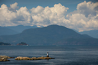 En Route to Langdale from Horseshoe Bay on BC Ferries, Sunshine Coast, British Columbia, Canada