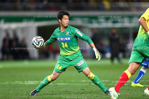 Shun Takagi (JEF),<br /> DECEMBER 7, 2014 - Football / Soccer :<br /> 2014 J.League Road to J1 Play-offs Final match between JEF United Ichihara Chiba 0-1 Montedio Yamagata at Ajinomoto Stadium in Tokyo, Japan. (Photo by Kenzaburo Matsuoka/AFLO)