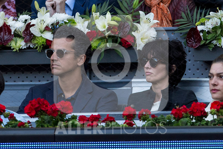Paz Vega during the WTA final of Mutua Madrid Open Tennis 2017 at Caja Magica in Madrid, May 13, 2017. Spain.