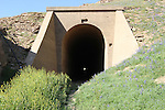 Historic Train Tunnels Built in Mariposa County. They Are located next to Lake McClure, Built in 1925 as part of the Yosemite Rail Road. The tunnels are under water most of the time however because of the current drought in California they are visible...