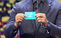 Ruud Gullit zieht Frankreich in die deutsche Gruppe F - 30.11.2019: UEFA EURO2020 Auslosung, Romexpo Bukarest, DISCLAIMER: UEFA regulations prohibit any use of photographs as image sequences and/or quasi-video.