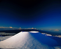 Snowcapped Mauna Kea  with Mauna Loa in rear, Big Island