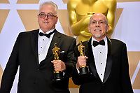Richard King &amp; Alex Gibson at the 90th Academy Awards Awards at the Dolby Theartre, Hollywood, USA 04 March 2018<br /> Picture: Paul Smith/Featureflash/SilverHub 0208 004 5359 sales@silverhubmedia.com