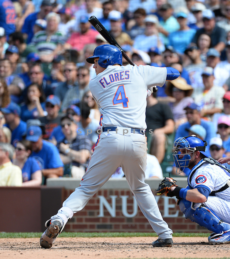 New York Mets Wilmer Flores (4) during a game against the Chicago Cubs on July 20, 2016 at Wrigley Field in Chicago, IL. The Cubs beat the Mets 6-2.