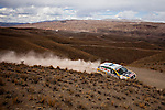 Car racer Emiliano Spataro from Argentina driving his Renault car during the 5th stage of the Dakar Rally 2016 in the Bolivian Altiplano.