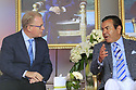 Keith Pelley, CEO Europeantour and, HRH Prince Moulay Rachid during the final round of the Troph&eacute;e Hassan II played at Royal Golf Dar Es Salam, Rabat, Morocco<br />  22/04/2018.<br /> Picture: Golffile | Phil Inglis<br /> <br /> <br /> All photo usage must carry mandatory copyright credit (&copy; Golffile | Phil Inglis)