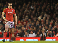 Wales Hadleigh Parkes in action during todays match<br /> <br /> Photographer Ian Cook/CameraSport<br /> <br /> 2018 NatWest Six Nations Championship - Wales v Italy - Sunday 11th March 2018 - Principality Stadium - Cardiff<br /> <br /> World Copyright &copy; 2018 CameraSport. All rights reserved. 43 Linden Ave. Countesthorpe. Leicester. England. LE8 5PG - Tel: +44 (0) 116 277 4147 - admin@camerasport.com - www.camerasport.com