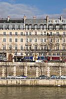 View across the River Seine to the Quai de la Megisserie Paris..©shoutpictures.com.john@shoutpictures.com
