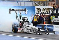 Feb 20, 2015; Chandler, AZ, USA; NHRA top fuel driver Larry Dixon during qualifying for the Carquest Nationals at Wild Horse Pass Motorsports Park. Mandatory Credit: Mark J. Rebilas-