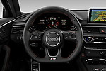 Car pictures of steering wheel view of a 2019 Audi S4 Premium-Plus 4 Door Sedan Steering Wheel
