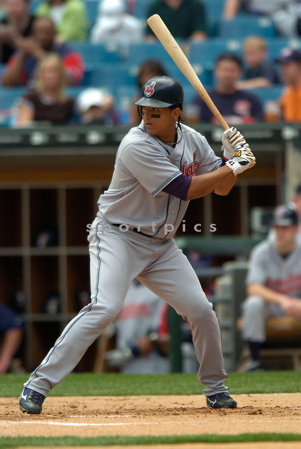 Victor Martinez during the Chicago White Sox v. Cleveland Indians game on April 6, 2005. ..Cleveland wins 11-5..David Durochik / SportPics