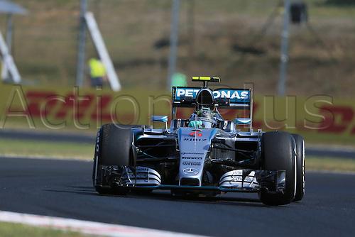 24.07.2015. Hungaroring, Budapest, Hungary. FIA Formula 1 Grand Prix of Hungary. Practise day.  Mercedes AMG Petronas F1 driver Nico Rosberg