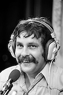 11 Aug 1977 --- French TV and radio presenter Max Meynier, well known for his show Les routiers sont sympas, on RTL. --- Image by © JP Laffont