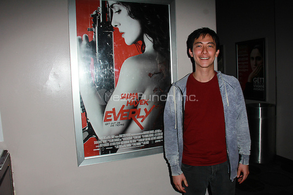 "BEVERLY HILLS, CA - FEBRUARY 28: Akie Kotabe at the ""Everly"" Opening Weekend Splatter-Ganza at Laemmle's Music Hall, Beverly Hills, California on February 28, 2015. Credit: David Edwards/DailyCeleb/MediaPunch"