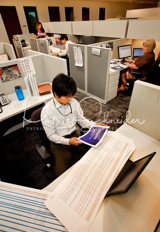 Interior photography of the Mitsubishi Nuclear Energy Systems offices in Charlotte NC (Ballantyne NC). The company established a new engineering center in Charlotte to expand Mitsubishi Nuclear Energy Systems'  U.S. market of nuclear power plants and replacement component services.