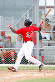 July 14, 2009:  Eddie Lora of the GCL Red Sox during a game at Boston Red Sox Training Complex in Fort Myers, FL.  The GCL Red Sox are the Gulf Coast Rookie League affiliate of the Boston Red Sox.  Photo By Mike Janes/Four Seam Images