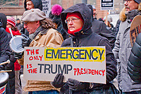 Protesting the Trump Emergency Declaration Chicago Illinois  2-18-19