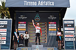 European and Belgian Champion Victor Campenaerts (BEL) Lotto-Soudal wins Stage 7 of the Race of the Two Seas, the 54th Tirreno-Adriatico 2019, an individual time trial running 10.1km around San Benedetto del Tronto, Italy. 19th March 2019.<br /> Picture: LaPresse/Gian Mattia D'Alberto | Cyclefile<br /> <br /> <br /> All photos usage must carry mandatory copyright credit (&copy; Cyclefile | LaPresse/Gian Mattia D'Alberto)
