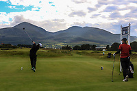Emily Toy (ENG) on the 18th tee during the Matchplay Final of the Women's Amateur Championship at Royal County Down Golf Club in Newcastle Co. Down on Saturday 15th June 2019.<br /> Picture:  Thos Caffrey / www.golffile.ie