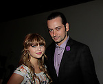 Bold and the Beautiful Constantine Maroulis and Passions Sammi Hanratty (Suite Life of Zach and Cody) at Nolcha Fashion Week New York on September 8, 2014 at Eyebeam Atelier - 540 W. 21st St, New York City, New York. (Photo by Sue Coflin/Max Photos)