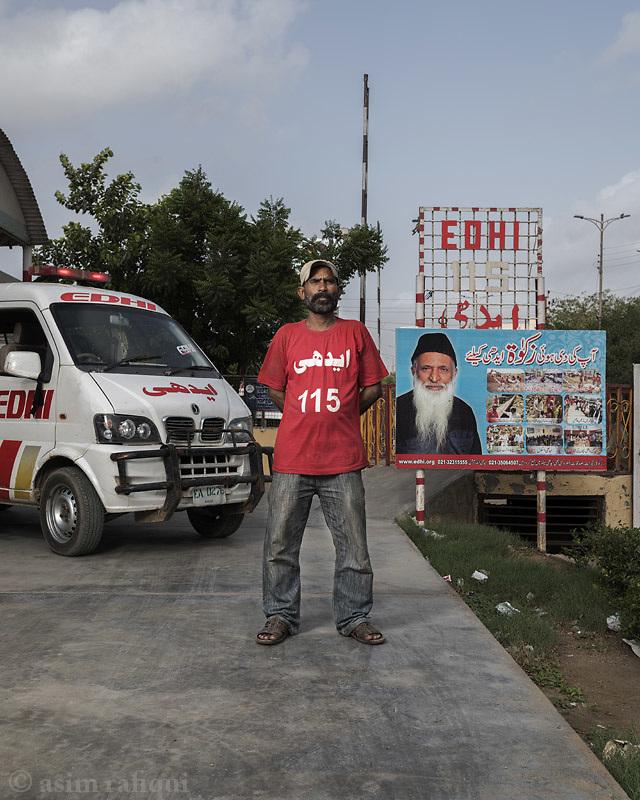 Mohammad Raja, Edhi Foundation ambulance services