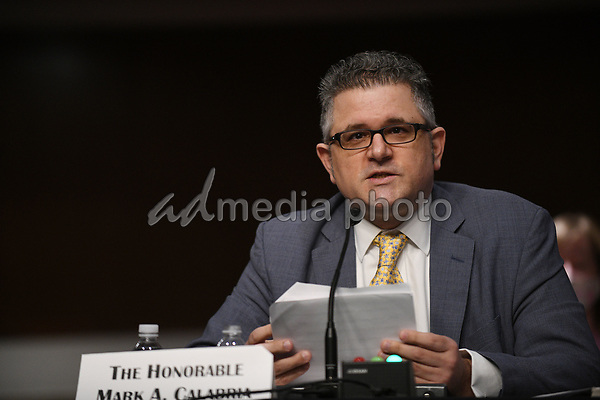 Mark A. Calabria, director of the Federal Housing Finance Agency, answers questions of U.S. Senators on Capitol Hill in Washington, D.C., June 9, 2020, during a hearing of the U.S. Senate Committee on Banking, Housing, and Urban Affairs to examine housing regulations during the pandemic.<br /> Credit: Astrid Riecken / Pool via CNP/AdMedia