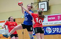 Annika Wiener (Walldorf) gegen Ronja Binder (Darmstadt) - Mörfelden-Walldorf 09.02.2020: TGS Walldorf vs. TGB Darmstadt, Sporthalle