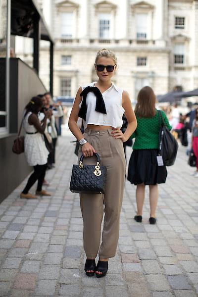 Amber Atherton at London Fashion Week September 2011