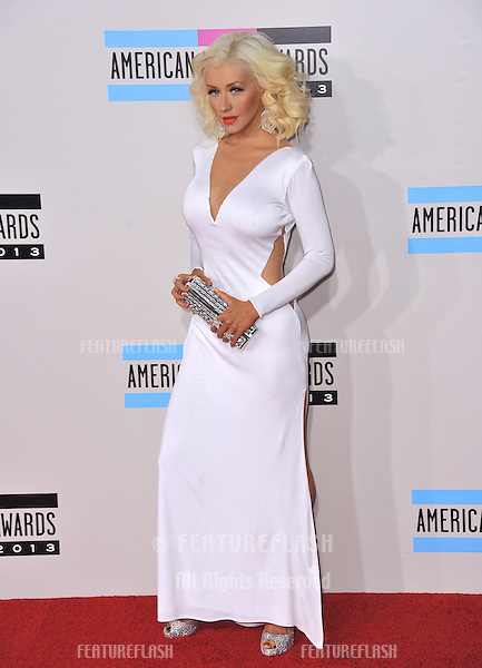 Christina Aguilera at the 2013 American Music Awards at the Nokia Theatre, LA Live.<br /> November 24, 2013  Los Angeles, CA<br /> Picture: Paul Smith / Featureflash
