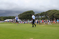 Tiger Woods (USA) walks off the 8th tee as the Thunder storm approaches during Saturday's Round 3 of the 94th PGA Golf Championship at The Ocean Course, Kiawah Island, South Carolina, USA 10th August 2012 (Photo Eoin Clarke/www.golffile.ie)