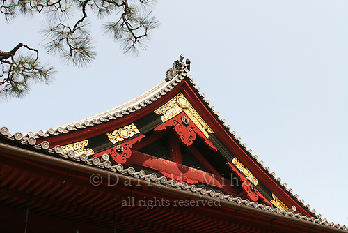 Mar 8, 2006; Tokyo, JPN; Ueno.Roof detail of Kiyomizu Kannon-do. Ueno Park...Photo credit: Darrell Miho