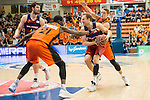Montakit Fuenlabrada's Moussa Diagne FC Barcelona Lassa's Brad Oleson during the match of Endesa ACB League between Fuenlabrada Montakit and FC Barcelona Lassa at Fernando Martin Stadium in fuelnabrada,  Madrid, Spain. October 30, 2016. (ALTERPHOTOS/Rodrigo Jimenez)