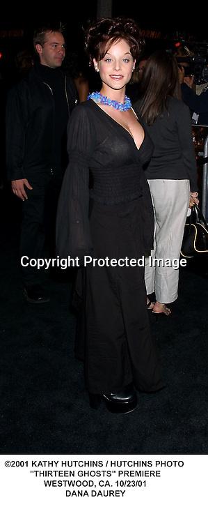 "©2001 KATHY HUTCHINS / HUTCHINS PHOTO .""THIRTEEN GHOSTS"" PREMIERE.WESTWOOD, CA. 10/23/01.DANA DAUREY"