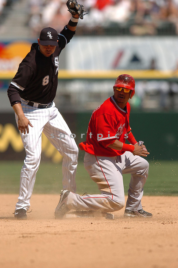 ORLANDO CABRERA, of the Los Angeles Angels, in action during the Angels game against the Chicago White Sox in Chicago, Illinois  on April 29, 2007....Angels win 5-2...DAVID DUROCHIK / SPORTPICS..