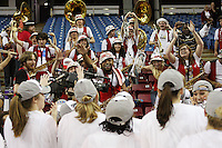 SACRAMENTO, CA - MARCH 29: The Stanford Band after Stanford's 55-53 win over Xavier in the NCAA Women's Basketball Championship Elite Eight on March 29, 2010 at Arco Arena in Sacramento, California.