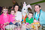 BUGSBUNNY: Easting enough of easter bunnies at the Camp Childcare Art & Craft fair in the Camp Community centre on Sunday l-r: Maeve,Ciara,Caroline and Eoin Slattery (Camp) and Cecile Augereau (Tralee)...