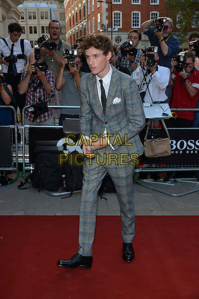 Eddie Redmayne<br /> GQ Men of the Year Awards 2013 at the Royal Opera House, London, England.<br /> 3rd September 2013<br /> full length grey gray check suit  <br /> CAP/PL<br /> &copy;Phil Loftus/Capital Pictures