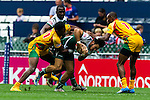 Zimbabwe vs Guyana during their HSBC Sevens Wold Series Qualifier match as part of the Cathay Pacific / HSBC Hong Kong Sevens at the Hong Kong Stadium on 27 March 2015 in Hong Kong, China. Photo by Juan Manuel Serrano / Power Sport Images
