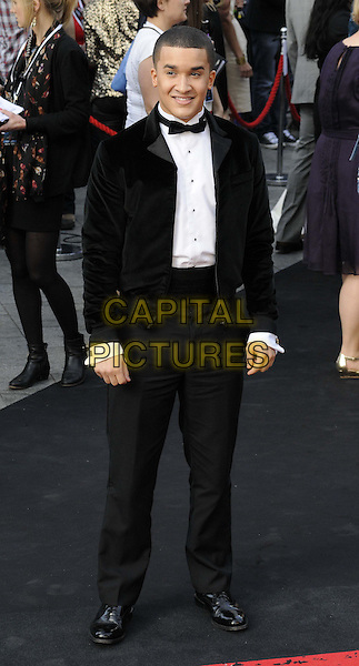 Jahmene Aaron Douglas<br /> 'World War Z' world premiere, Empire cinema, Leicester Square, London, England 2nd June 2013 <br /> full length black white shirt bow tie tuxedo<br /> CAP/CAN<br /> &copy;Can Nguyen/Capital Pictures