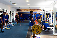 Aled Brew of Bath Rugby in the gym. Bath Rugby pre-season training on July 2, 2018 at Farleigh House in Bath, England. Photo by: Patrick Khachfe / Onside Images