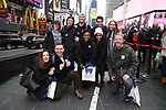Along with Actors' Equity members talk to Broadway audiences about why they are fighting for a better development contract with the Broadway League after the Union announced Monday a strike for all development work with the Broadway League. TKTS Booth, Duffy Square Neil January 8, 2019 in New York City.